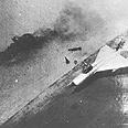 מטוסים מצריים שהותקפו מן האויר.