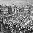 """כוחותיו של כורש ה-2, מלך פרס, כובשים את בבל, 539 לפנה""""ס"""