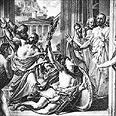 הרץ היווני מתמוטט ומת אחרי שרץ כל הדרך ממרתון על מנת לבשר על הניצחון בקרב מרתון, הקרב המכריע.