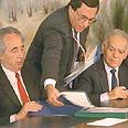 יצחק שמיר ושמעון פרס, ממשלת אחדות לאומית, 1986.