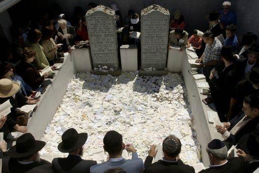קבר רבי מנחם מנדל שניאורסון צילום: רויטרס