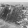 """משאית שהותקפה ע""""י הפדאיון, 1956"""