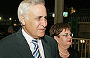 Moshe and Gila Katsav (Photo: Ido Erez)