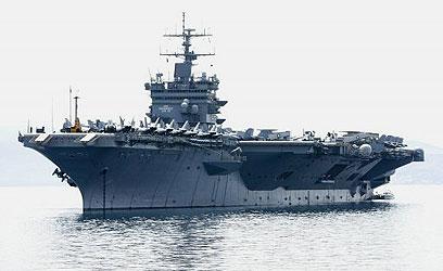 """נושאת המטוסים """"אנטרפרייז"""" (צילום: רויטרס) (צילום: רויטרס)"""