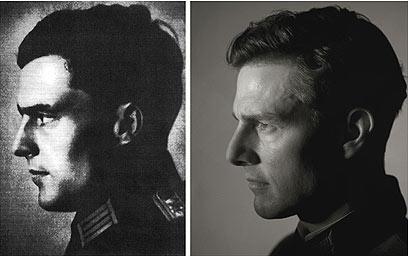 """פון שטאופנברג, משמאל, הונצח בסרט """"מבצע ואלקירי"""" בכיכובו של טום קרוז, מימין ()"""