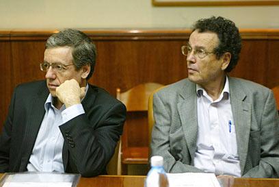 השר פרידמן והיועץ בתקופתו, מני מזוז (צילום: פלאש 90) (צילום: פלאש 90)