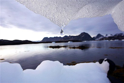 קרח מפשיר בגרינלנד (צילום: איי פי) (צילום: איי פי)