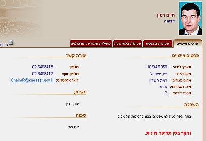 מתוך אתר הכנסת