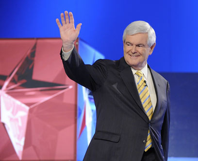 זוכה לגיבוי מפתיע. ניוט גינגריץ' (צילום: AFP) (צילום: AFP)