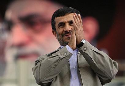 """""""העם האיראני לא אוהב את הנשיא שלו"""". אחמדינג'אד (צילום: AP) (צילום: AP)"""