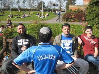 An Israeli student abroad disclaims the academic boycott (Photo: Eliran Nahum)