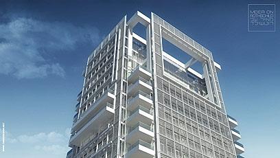 הדמיית מגדל מאייר בשדרות רוטשילד. מהמפוארים בעולם (צילום: שרה וגל הדמיות) (צילום: שרה וגל הדמיות)