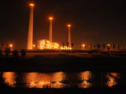 תחנת כוח של חברת החשמל. המיגון יתבצע על חשבון החברות (צילום: ג'ורג' גינסברג)