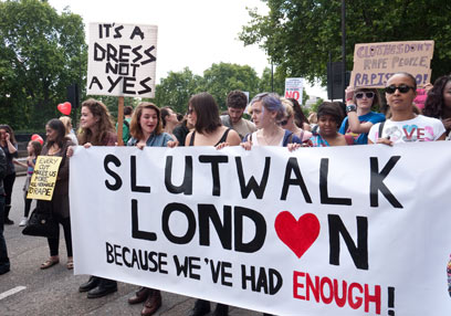 ככה זה נראה בלונדון. מצעד השרמוטות (צילום: shutterstock) (צילום: shutterstock)