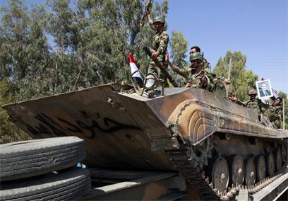 Syrian tanks (Photo: AFP) (Photo: AFP)