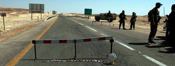 כוחות הביטחון חסמו כבישים (צילום: אליעד לוי )