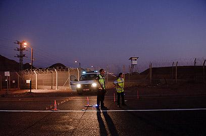 מחסומים באזור אילת בעקבות מתקפת הטרור (צילום: בן קלמר) (צילום: בן קלמר)