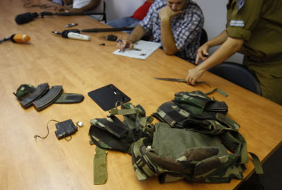 Equipment carried by Sinai terrorists (Photo: AFP)