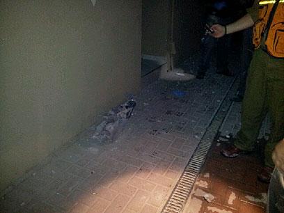 Scene of Ofakim attack (Photo: Ilana Curiel)