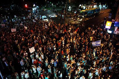 הצעדה בתל-אביב (צילום: בן קלמר) (צילום: בן קלמר)