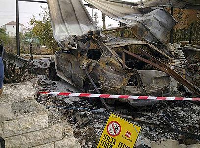 נפילת גראד באזור באר שבע (צילום: שמרית שי ) (צילום: שמרית שי )
