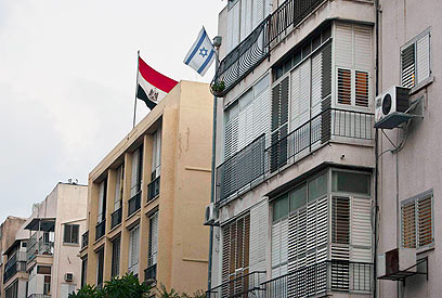 Egyptian embassy in Israel (Photo: Reuters)