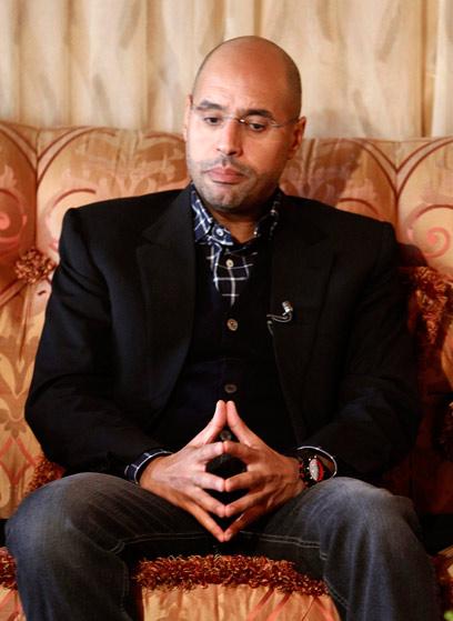 נעצר על ידי המורדים? סייף אל-איסלאם קדאפי (צילום: רויטרס) (צילום: רויטרס)