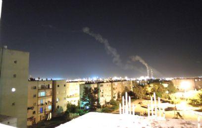 Iron Dome intercepts rocked fired at Ashkelon (Photo: Tal Haim)