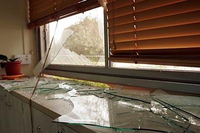 נזק נגרם למבנה  (צילום: אליעד לוי) (צילום: אליעד לוי)