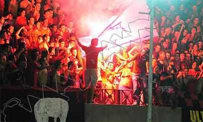 שריפת דגל ביציע המצרי ()