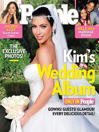 """חתונה יחצ""""נית. קים קרדישיאן (צילום: מתוך המגזין """"פיפל"""")"""
