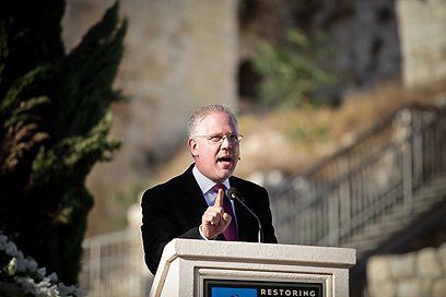 Glenn Beck at the 'Restore Courage' rally (Photo: Noam Moskovich)