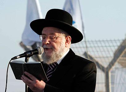 מוכן להתחלף עם גלעד שליט. הרב ישראל לאו  (צילום: אליעד לוי) (צילום: אליעד לוי)