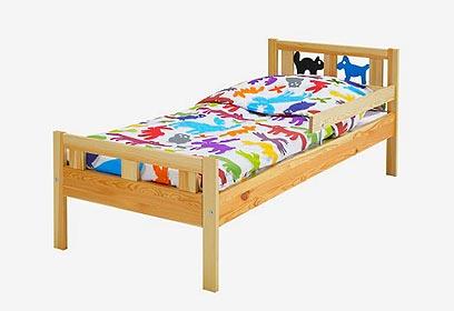מיטת ילדים של איקאה.