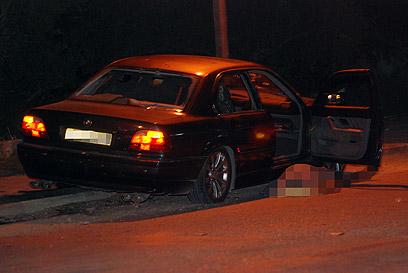 הרכב בו נסעו השלושה (צילום: ג'ורג' גינסברג) (צילום: ג'ורג' גינסברג)