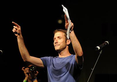 איציק שמולי במחאה החברתית. נגמר הפסטיבל (צילום: ירון ברנר) (צילום: ירון ברנר)