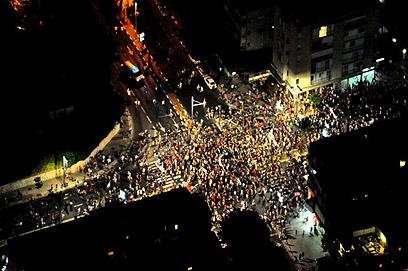 """""""ההתעוררות הכי חשובה שהייתה כאן"""". מבט מלמעלה (צילום: באדיבות היחידה האווירית, משטרת ישראל)"""