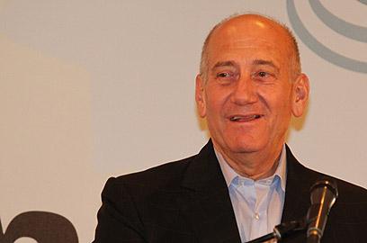 """אולמרט בוועידה. """"מדינת ישראל זקוקה לשינוי יסודי"""" (צילום: אלי אלגרט) (צילום: אלי אלגרט)"""