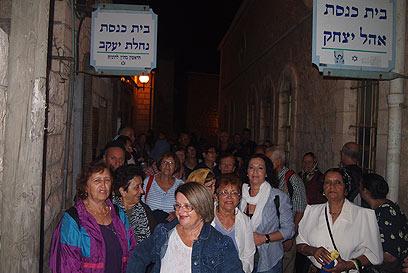 שני בתי הכנסת, זה מול זה  (צילום: נהרי דורון) (צילום: נהרי דורון)