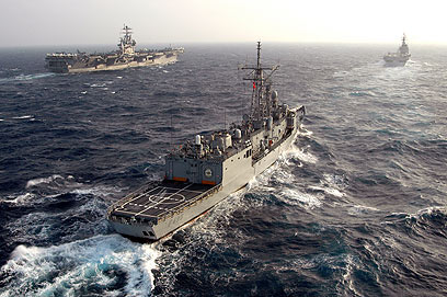 Turkish navy at sea