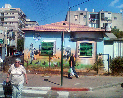 ברדיצ'בסקי 1: הציורים הנוסטלגיים נמחקו עם הבית (צילום: תני גולדשטיין) (צילום: תני גולדשטיין)