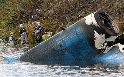 התרסקות המטוס הרוסי בחודש שעבר. עוד אסון הקיץ (צילום: AP) (צילום: AP)