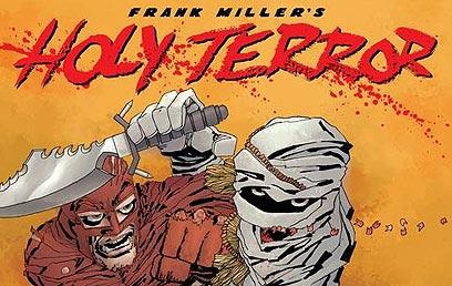 """Holy Terror"". העולם טרום החיסול   (עטיפת הקומיקס) (עטיפת הקומיקס)"