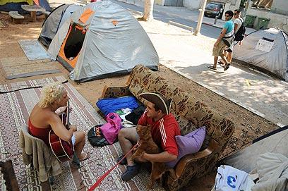מהר התקווה נותרה עיר אוהלים גוססת  (צילום: ירון ברנר) (צילום: ירון ברנר)
