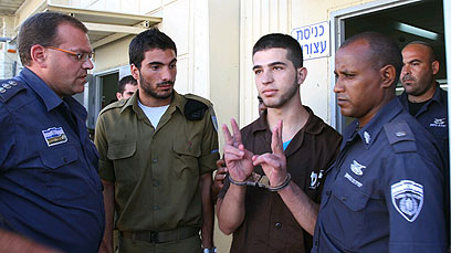 Hakim Awad leaves court (Photo: Hagai Aharon)