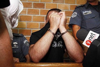 ויטלי מיכאלוב בבית המשפט. הביע חרטה (צילום: עידו ארז) (צילום: עידו ארז)