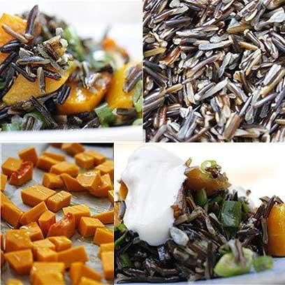 צבעוני וטעים - אורז שחור, דלעת, ירוקים ותמרים (צילום: מיכל וקסמן) (צילום: מיכל וקסמן)