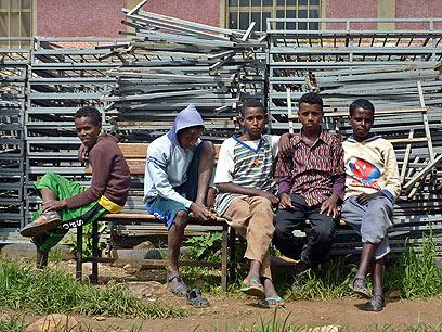 פליטים מאריתריאה במחנה באתיופיה (צילום: AFP)