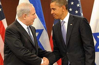 """אובמה ונתניהו בעצרת האו""""ם. נאום פרו-ישראלי (צילום: אבי אוחיון, לע""""מ) (צילום: אבי אוחיון, לע"""