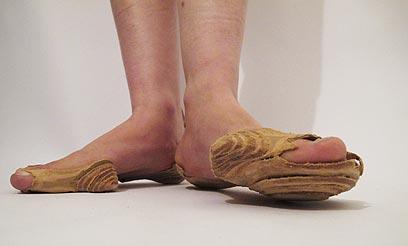דניאלה זילברשטיין מעלה לדיון את כפות הרגליים ()
